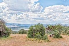 Punto de la comida campestre en la manera al valle del punto de vista de la desolación Imagen de archivo libre de regalías