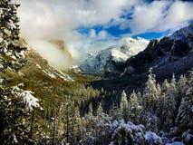 Punto de la inspiración en el valle de Yosemite foto de archivo libre de regalías