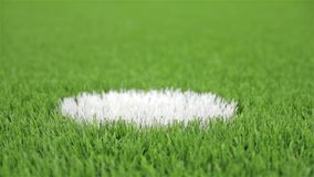 Punto de la pena del fútbol Primer, tiro diagonal del resbalador metrajes