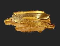 Punto de la pintura del movimiento del cepillo del oro del dibujo de la mano fotos de archivo libres de regalías