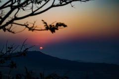Punto de la puesta del sol, Lonavala fotografía de archivo libre de regalías