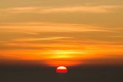 Punto de opinión de la salida del sol, angkhang del doi, chiangmai, Tailandia Imagen de archivo