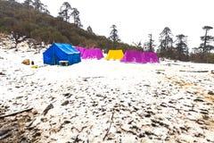 Punto de opinión de Phedang en el parque nacional de Kanchenjunga Fotografía de archivo libre de regalías