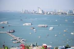 Punto de opinión del puerto de Pattaya Fotos de archivo