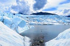 Punto de visión asombroso del glaciar 2015 de Matanuska foto de archivo