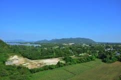 Punto de visión de Kanchanaburi Tailandia Foto de archivo libre de regalías