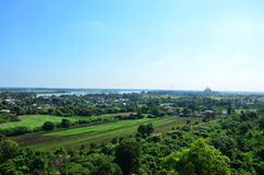 Punto de visión de Kanchanaburi Tailandia Imagen de archivo libre de regalías