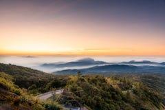 Punto de visión de la montaña de Inthanon Fotografía de archivo