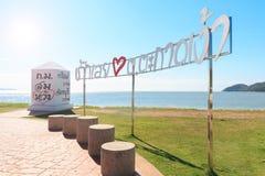 Punto de visión de la playa imagen de archivo libre de regalías