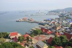 Punto de visión del puerto de Koh Loy Fotos de archivo