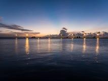 Punto de visión en la más situado más al sur de los E.E.U.U. en Key West Fotos de archivo