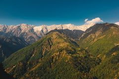 Punto de visión turístico en Shimla Himachal Pradesh foto de archivo