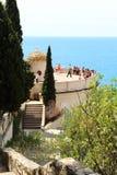 Punto de vista cerca Niza del castillo, Francia Fotos de archivo libres de regalías