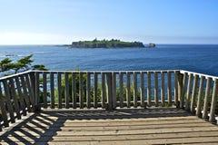 Punto de vista de la isla del faro Fotografía de archivo