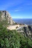 Punto de vista de la montaña de Montserrat, España Imagen de archivo