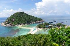 Punto de vista de Nang Yuan Island, Tailandia imagenes de archivo