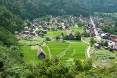 Punto de vista de Shirakawago Fotos de archivo libres de regalías