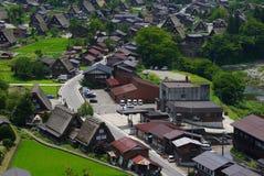 Punto de vista de Shirakawago, Japón Imagen de archivo libre de regalías