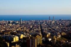 Punto de vista del fom del paisaje de Barcelona Fotografía de archivo