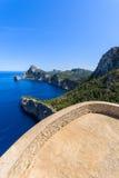 Punto de vista en el cabo Formentor, isla de Majorca Imagen de archivo libre de regalías