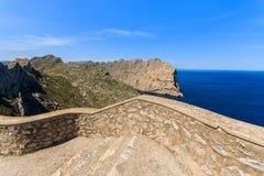 Punto de vista en el cabo Formentor, isla de Majorca Fotografía de archivo libre de regalías