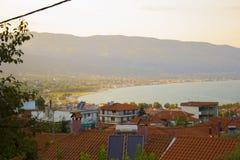 Punto de vista en la ciudad vieja Stavros fotografía de archivo libre de regalías