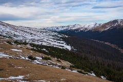 Punto de vista en Rocky Mountain NP Imagen de archivo libre de regalías