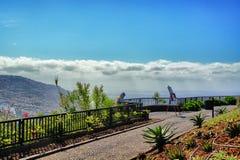 Punto de vista hermoso de la ciudad de Funchal imagenes de archivo