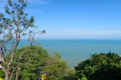 Punto de vista, mar cerca del hin de Hua Imagen de archivo libre de regalías