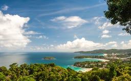 Punto de vista phuket Bay City Tailandia Foto de archivo