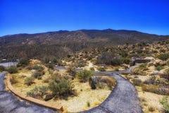 Punto de Vista que pasa por alto la reserva de Cahuilla, California Foto de archivo