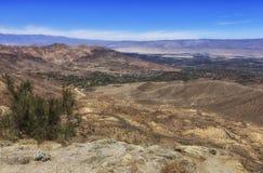 Punto de Vista que pasa por alto la reserva de Cahuilla, California Fotografía de archivo