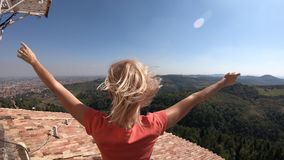 Punto de vista de San Luca Bologna almacen de metraje de vídeo