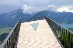 Punto de vista sobre Interlaken. Suiza. Imagen de archivo libre de regalías