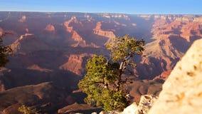 Punto de Yavapai del parque nacional de Grand Canyon de la puesta del sol de Arizona almacen de metraje de vídeo