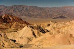 Punto de Zabriskie, Death Valley California Imagen de archivo