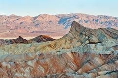 Punto de Zabriskie en el parque nacional de Death Valley en California, los E.E.U.U. Fotografía de archivo libre de regalías