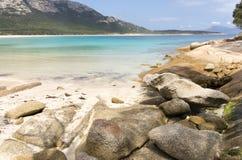 Punto dei pantaloni, isola del Flinders, Tasmania, Australia Immagine Stock Libera da Diritti