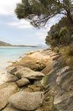 Punto dei pantaloni, isola del Flinders, Tasmania, Australia Fotografie Stock