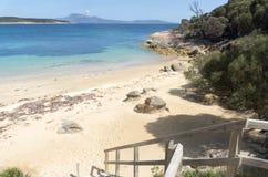 Punto dei pantaloni, isola del Flinders, Tasmania, Australia Immagine Stock