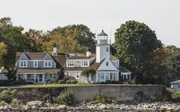 Punto del álamo, Newport, RI Foto de archivo