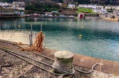 Punto del amarre en el puerto Foto de archivo