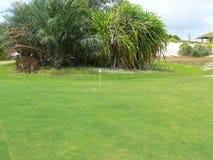 Punto del campo di golf fotografia stock