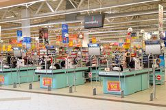 Supermercado vacío Imágenes de archivo libres de regalías