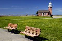Punto del faro, Santa Cruz, California fotografia stock