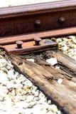 Punto del ferrocarril que se pega para arriba Fotografía de archivo