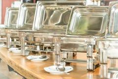 Punto del foco selectivo en comida fría del abastecimiento en restaurante del hotel Fotos de archivo