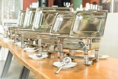 Punto del foco selectivo en comida fría del abastecimiento en restaurante del hotel Fotografía de archivo libre de regalías