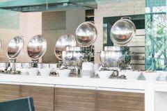 Punto del foco selectivo en la comida de la comida fría del abastecimiento en hotel de lujo Fotografía de archivo