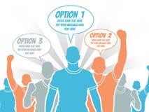 Punto del modello di opzione dell'uomo d'affari che allinea 3 Immagine Stock